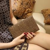 春季凱蒂熊代購-夏季潮女手拿包 女士手包編織斜挎女包晚宴單肩包包