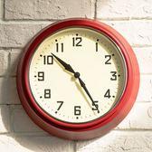 尾牙年貨 鐘表超靜音臥室掛鐘客廳鐵藝金屬鐘表創意