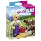 摩比積木 playmobil special plus 摩比人 鄉村女孩與小牛