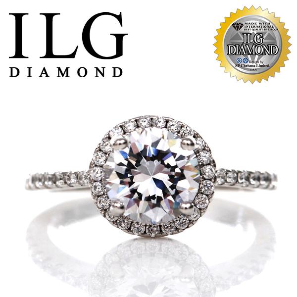 【頂級美國ILG鑽飾】頂級八心八箭鑽石戒指- 法國巴黎名款 求婚首選 RI096