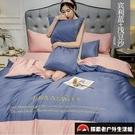 四件套公主風天絲裸睡床單歐式絲滑床上用品冰絲床罩被套組【探索者戶外生活館】