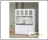 {{ 海中天休閒傢俱廣場 }} G-35 摩登時尚 餐櫃系列 702-4 貝多美白色5尺碗櫥櫃(全組)