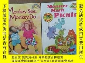 二手書博民逛書店Scholastic罕見Reader Level 1: Monster Math Picnic【2本合售】Y2