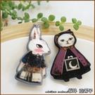 『坂井.亞希子』暗黑童話插畫風格動物造型髮夾