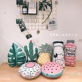 韓國雙面可愛創意水果菠蘿仙人掌汽車抱枕靠墊居家沙發靠枕WY
