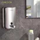 賓館酒店沐浴露消毒304不銹鋼按壓洗手液瓶子皂液器洗手間壁掛式 元旦狂歡購