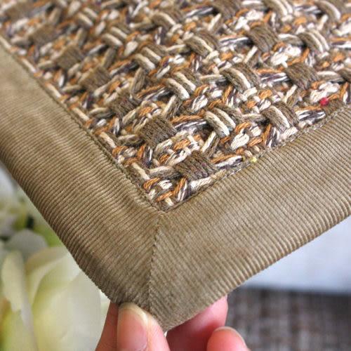 時尚舒適簡約純棉咖色防滑手工沙發墊/沙發巾(客製訂單)