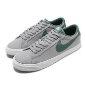 【六折特賣】Nike 滑板鞋 SB Zoom Blazer Low CNVS 灰 綠 男鞋 麂皮鞋面 低筒 運動鞋【PUMP306】 889053-002