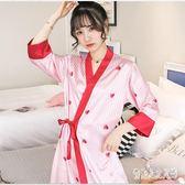 睡裙夏季薄款冰絲短袖家居服日式真絲浴袍睡衣 JH1298『俏美人大尺碼』