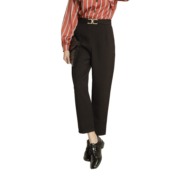東京著衣【KODZ】時尚穿搭造型環釦打摺設計長褲-S.M.L.XL(191835)