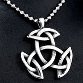 《QBOX 》FASHION 飾品【CBP8-213】精緻個性凱特爾繩結鑄造鈦鋼墬子項鍊