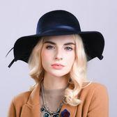 盆帽-高雅大方時尚大帽簷女羊毛呢帽3色73tk10[巴黎精品]