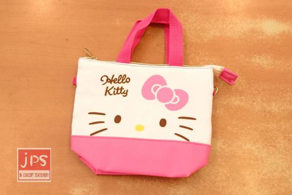 Hello Kitty 凱蒂貓 3C可提觸控包 收納包 手提包 大臉 粉 664694