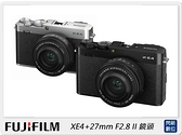 FUJIFILM 富士 XE4+27mm F2.8 II 鏡頭(X-E4,公司貨)