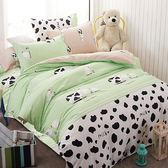 DOKOMO朵可•茉《樂鬧農場》100%MIT台製舒柔棉-雙人加大(6*6.2尺)三件式百貨專櫃精品薄床包枕套組