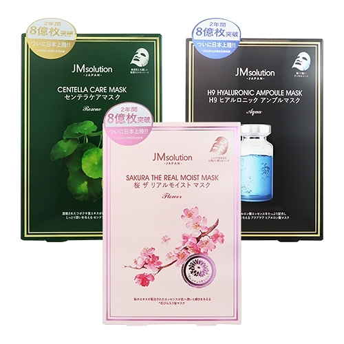 韓國JMsolution日版 櫻花保濕面膜 5片入(盒)【BG Shop】-外包裝瑕疵-