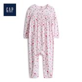 Gap 嬰兒 甜美花卉印花長袖洋裝 546366-櫻花粉
