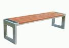 【南洋風休閒傢俱】公園椅系列 - 5尺150cm塑木不銹鋼公園椅 騎樓等待椅 戶外椅