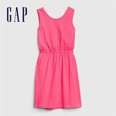 Gap女童柔軟舒適圓領無袖洋裝578105-亮粉色