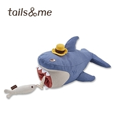尾巴與我海洋動物寵物玩具啃咬抱抱組鯊魚