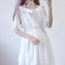 夏裝新款套裝韓版女日系露肩蕾絲學生洋裝 吊帶裙兩件套萌