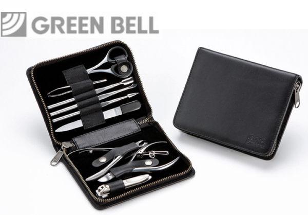 【永昌文具】日本GB綠鐘匠之技鍛造鋼修容9件組旅行隨身包(G-3104)