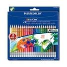 《享亮商城》MS14450NC24 24色快樂學園可擦拭色鉛筆(紙盒) 施德樓