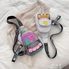 INS超火小包包女新款時尚洋氣蹦迪包單肩可愛少女斜背包胸包【快速出貨】
