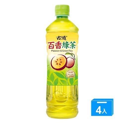 古道百香綠茶600ml*4入【愛買】