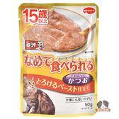 【寵物王國】COMBO PRESENT Mio泥饌15歲高齡貓餐包(綿綿鰹魚)口味40g