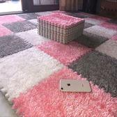 拼接絨面地毯拼圖泡沫地墊臥室滿鋪地板墊子榻榻米FA