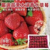 【果之蔬-全省免運】嚴選苗栗大湖香水草莓X1盒 【單盒28顆/400克±10%/含盒重】
