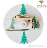 兒童相機 ins爆紅原版木質相機玩具創意裝飾脖掛兒童玩具拍照道具裝飾擺件『快速出貨』