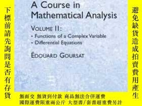 二手書博民逛書店A罕見Course In Mathematical Analysis Volume 2Y256260 Edou