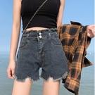 短褲 夏季2021新款五分大碼寬松褲子薄款闊腿短褲高腰顯瘦百搭牛仔褲女 全館免運