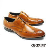 【CR Cerini】三孔雕花德比紳士鞋 蜜棕色(73732-BR)