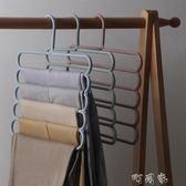 多功能晾衣架 防滑多層褲架 創意四層圍巾架毛巾架皮帶架 盯目家