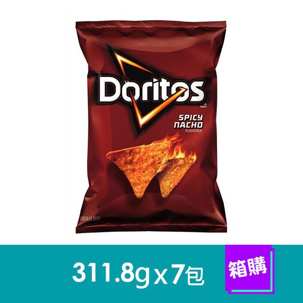 【美國Doritos多力多滋】墨西哥脆餅-辣味起司(311.8gx7包)-箱購