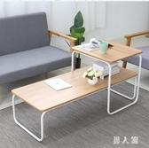 客廳茶幾簡約塌塌米桌小戶型茶臺家用邊桌沙發小桌子套幾 PA12418『男人範』