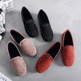 冬季老北京布鞋女鞋 棉鞋黑色工作鞋 加絨 平底孕婦鞋韓版 豆豆鞋