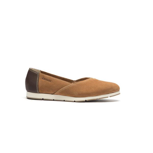 ORWARE-小尖頭素面牛皮懶人鞋652115-06棕
