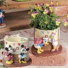 迪士尼造型樹脂花器花盆栽擺飾迷奇米妮085523唐老鴨黛西085530通販屋
