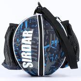 單肩手提籃球包訓練運動背包籃球袋網兜足球排球網帶袋包【快速出貨限時八折】