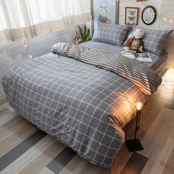 Ouni歐妮 D2雙人床包雙人薄被套4件組 四季磨毛布 北歐風 台灣製造 棉床本舖