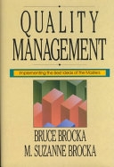 二手書博民逛書店《Quality Management: Implementing the Best Ideas of the Masters》 R2Y ISBN:1556235402