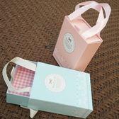 禮品盒 小清新禮盒手拎盒硬紙盒長方抽屜盒手提盒子婚禮喜宴糖果包裝糖盒【美物居家館】