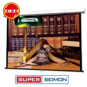 美國SUPER SEIMON 8 * 10 150吋 W-120 手拉式壁掛式布幕