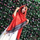 館長推薦☛頭巾青海旅游遮陽圍巾沙漠頭巾沙灘巾