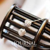 925 純銀5mm 細緻工法毛線球 針式耳環_ 質物日誌Journal