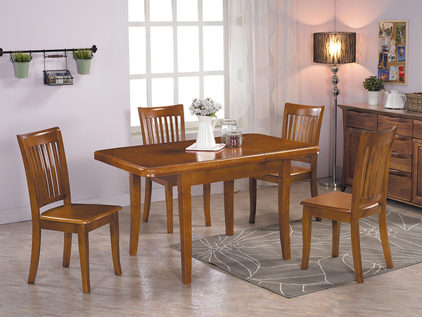 【森可家居】安德爾實木餐椅 10JX502-4 椅子 鄉村風